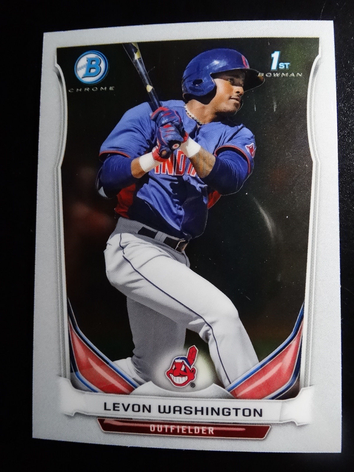 Primary image for 2014 Bowman Chrome BCP42 Levon Washington Cleveland Indians Baseball Rookie Card