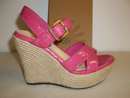 Ugg Australia Size 9.5 M Jackilyn Pink Leather Wedge Sandals New Womens ... - $98.01