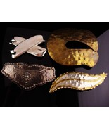Vintage HUGE costume buckle lot - oversize stage costume accessories ren... - $45.00