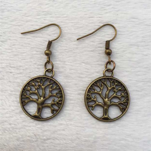 Primary image for BRONZE TREE BRANCH EARRINGS  ..L@@K..  >> WE COMBINE SHIPPING <<  (4