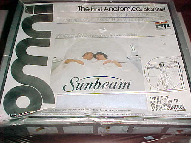 Primary image for Sunbeam Omni First Anatomical Blanket 1985 Model 5280003539 Twin Size Blue New