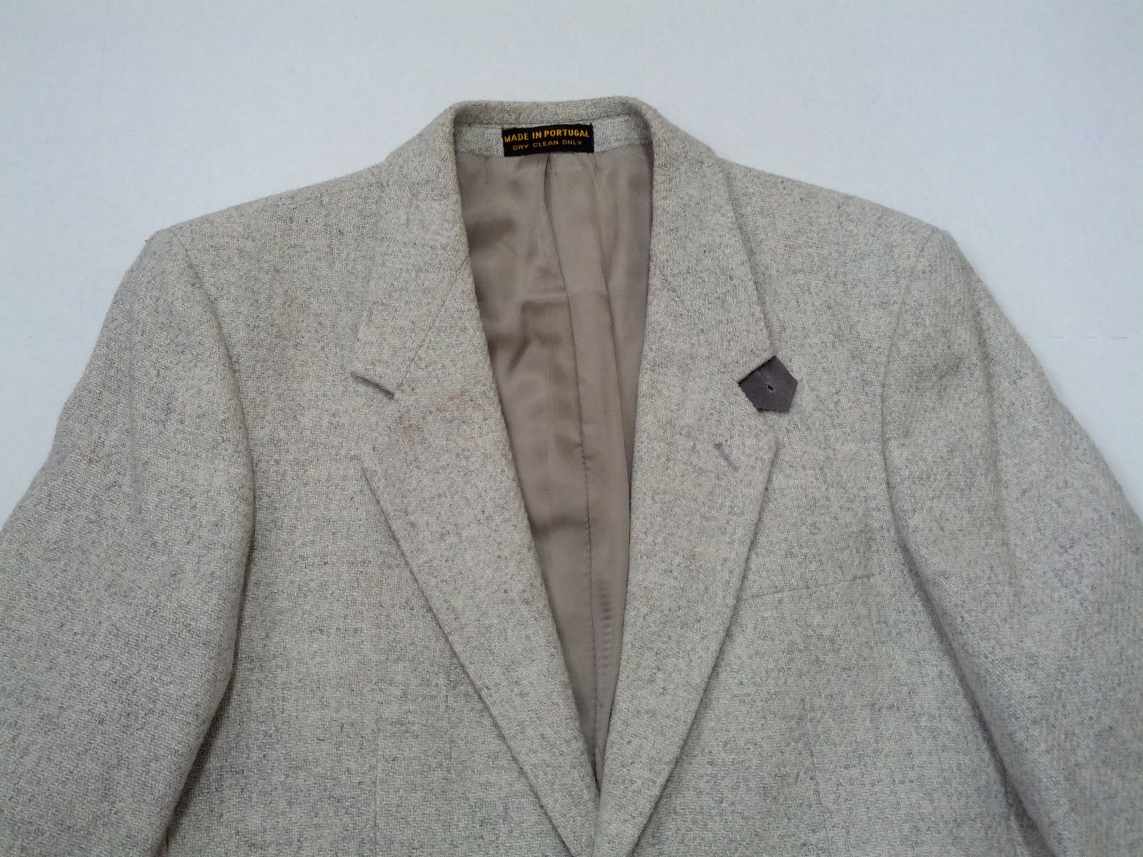 Primary image for Egon  Von Furstenberg sports coat blazer with  gray suede elbow patches size 39