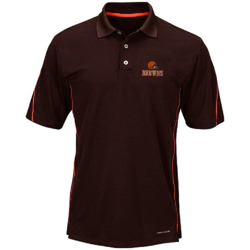 Cleveland Browns Men's Polo Shirt NFL Field Classic Cool Base Big Sizes