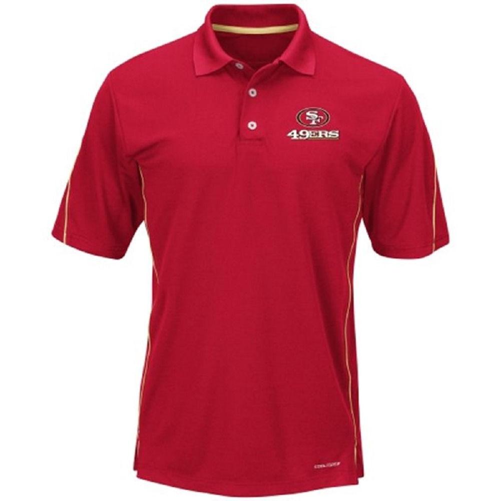 San Francisco 49ers Men's Polo Shirt NFL Field Classic Cool Base Big Sizes