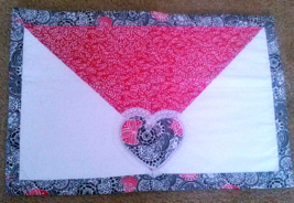 Valentine's Day Finished Quilt Block - $12.50