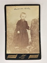 antique PHOTOGRAPH reading pa CLARENCE DIEHL baby cabinet card - $34.95