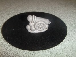 Wade Pottery Whimsies Signed England Gray Canno... - $7.69