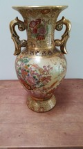 "14"" Antiaue Large Satsuma"" Asian Porcelain Enam... - $224.05"