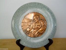 Hong Kong's Commemorative Porcelain & Bronze Plate 1997 w/COA,  - $45.82