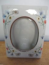 Vintage HAND PAINTED Lefton China Ceramic Floral Picture Frame-Gold Stam... - $26.77
