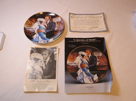 Gone With The Wind A Question of Honor COA 1989 Collector Plate Golden A... - $39.59