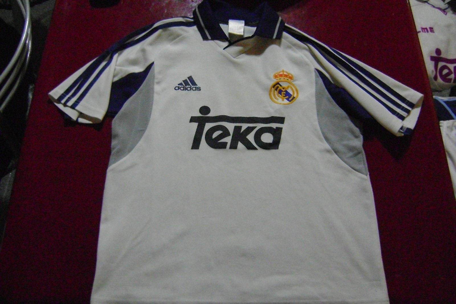 Primary image for old  soccer  Jersey Real Madrid Orig Adidas Size XS aprox.