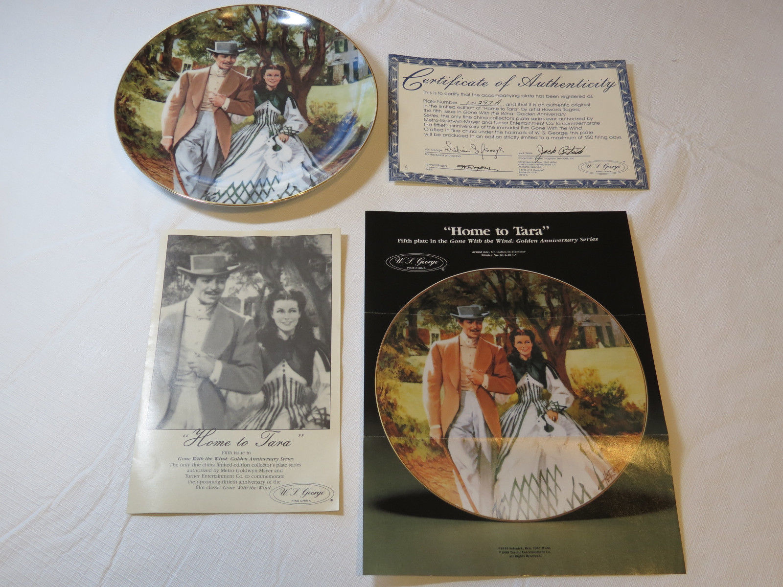 Primary image for Gone With The Wind Home To Tara COA 1989 Collector Plate Golden Anniver#%