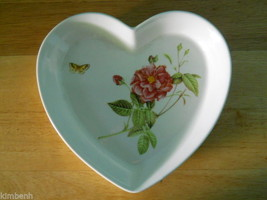 Heart Shaped Dish in the Rose Serenade pattern by Gorham China - $23.38