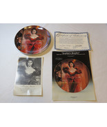 Gone With The Wind Scarlett's Resolve COA 1989 Collector Plate Golden An... - $39.59