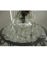 14 PC Hand Blown Crystal Moderno Riekes Crisa Punch Bowl Set w/Ladle - $229.08