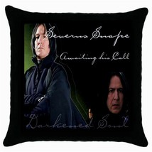 Severus Snape Black Cushion Cover Throw Pillow Case - $15.00