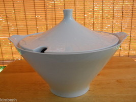 LARGE BEAUTIFUL ANTIQUE ALKA BAVARIA ALL WHITE PORCELAIN TUREEN  - $60.78