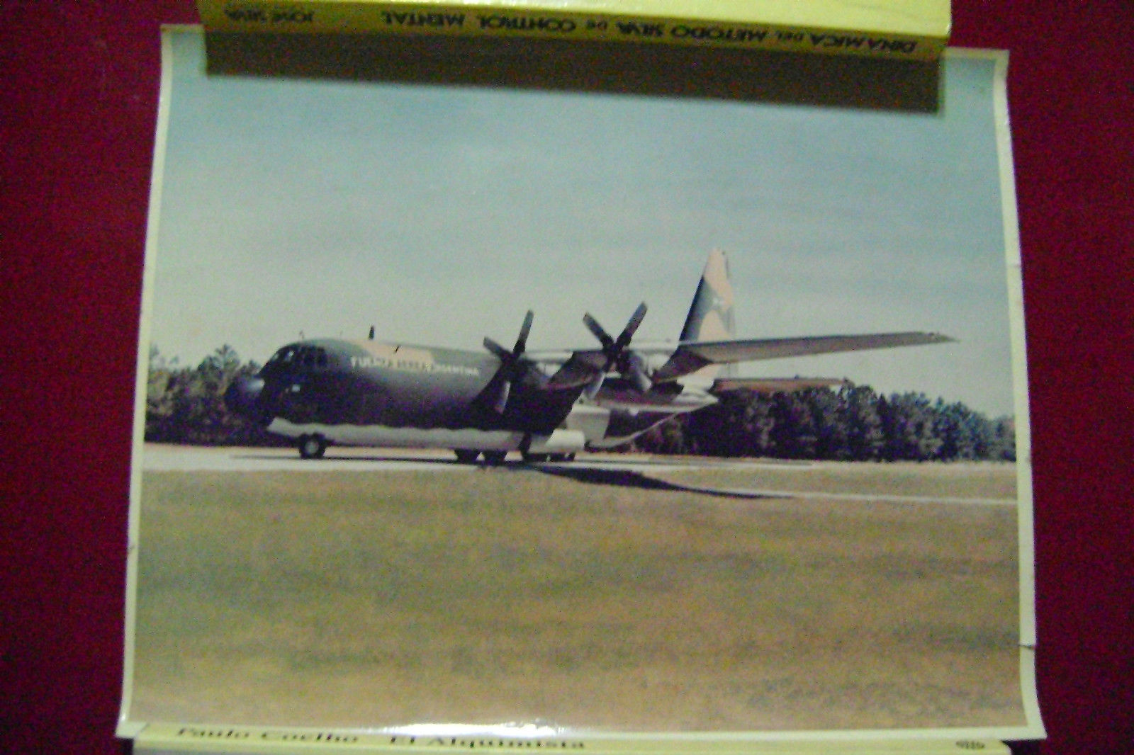 Primary image for Original photography Old Airplane Air Force Argentina .(Canada)