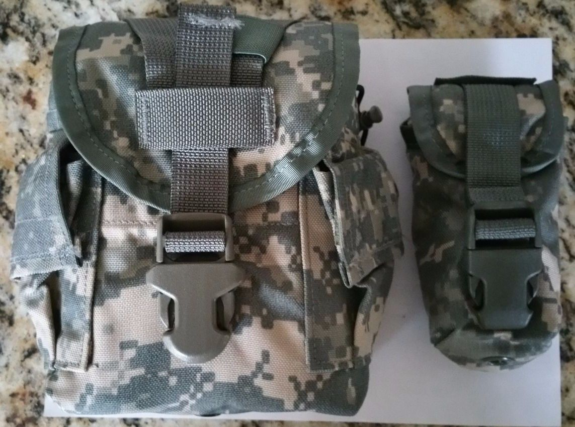 Primary image for NEW ACU MOLLE II Canteen Cover/Utility/MRE Pouch USGI and NEW Flash Bang Pouch