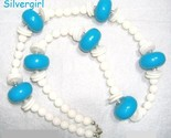 Vintage turquoise white chunky necklace thumb155 crop