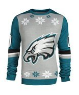 NFL Forever Collectibles Philadelphia Eagles Almost Right But Ugly Sweater - £35.58 GBP