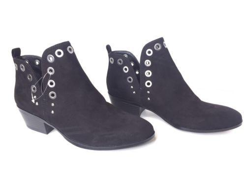Circus Sam Edelman Paula Black Studded Grommets Ankle Booties Boots Festival 6