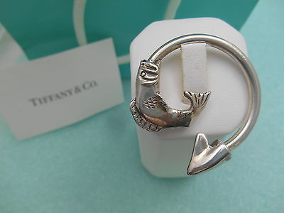 Primary image for Tiffany & Co. Fish Themed Solid Sterling Silver Key Chain Ring -Very Rare!