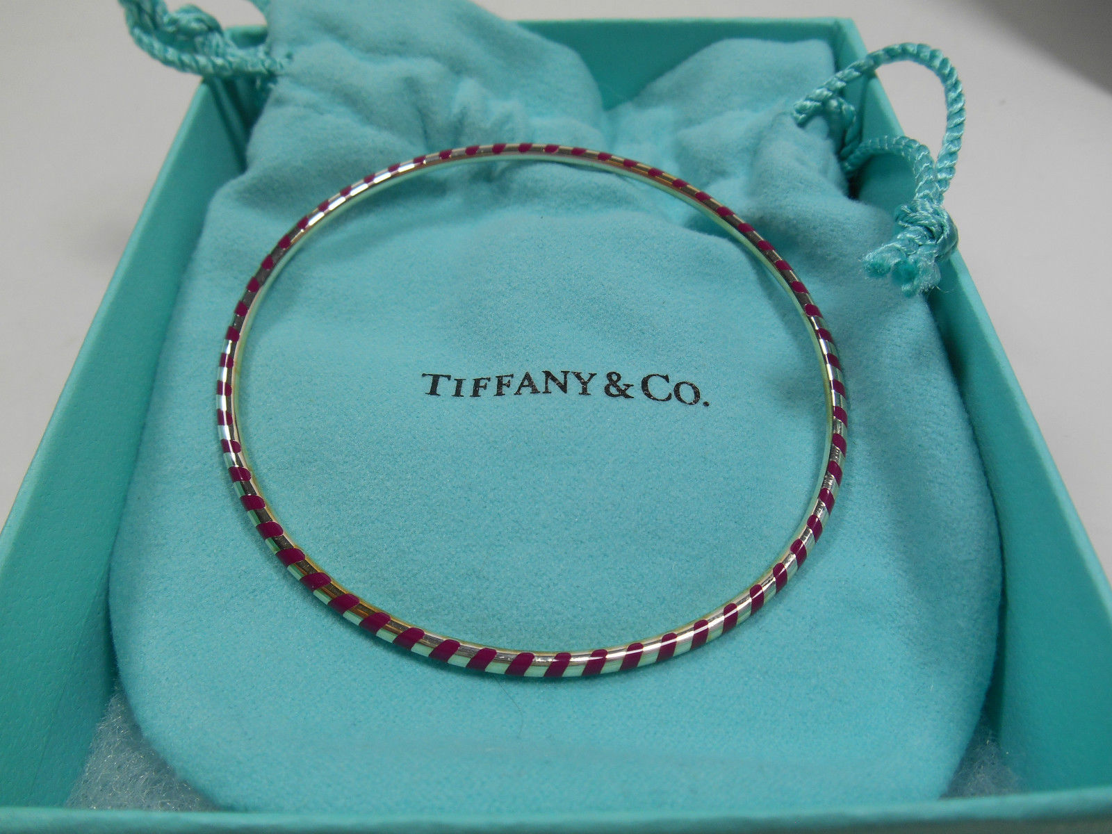 Primary image for Tiffany & Co. Picasso Venezia Palina Purple Enamel Sterling Silver Bracelet