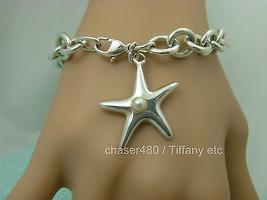 TIFFANY & Co. Elsa Peretti Pearl Starfish Charm Bracelet Sterling Silver - RARE! - $401.57