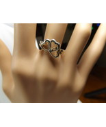 Tiffany & Co. Triple 3 Heart Ring Sterling Silver Sizable 6.5  Rare! - $222.61