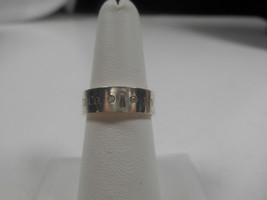Tiffany & Co. Diamond Lock Keyhole Band Ring Sterling Silver Sizable 7 - $327.38