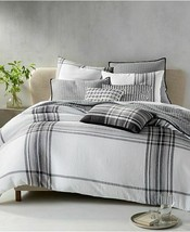 Hotel Collection Plaid Linen King Duvet Cover - $98.95