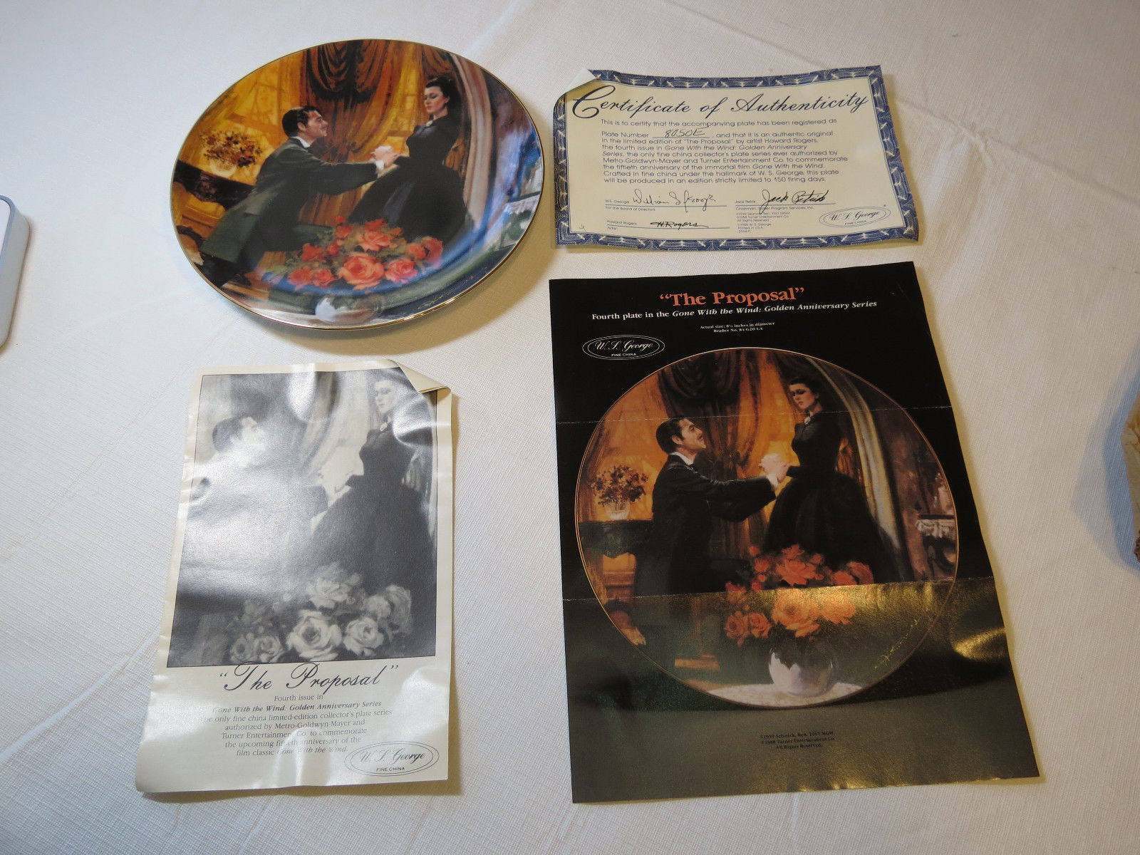 Primary image for Gone With The Wind The Proposal 1988 COA Collector Plate Golden Anniversary#%