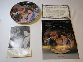 Gone With The Wind Scarlett & Ashley After War COA Collector Plate Golde... - $25.73