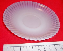 "Translucent Fluted 6"" Glass Plate  - $10.19"