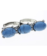 RING / DOUBLE RINGS / ADJUSTABLE / CRYSTAL STON... - $15.00