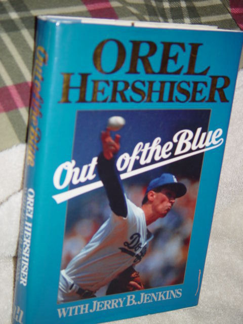 Out of the Blue by Orel Hershiser (1989, Hardcover)