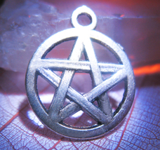 Haunted FREEBIE 3X HELP PROTECTION MAGICK 925 PENTAGRAM CHARM WITCH Cassia4 - Freebie