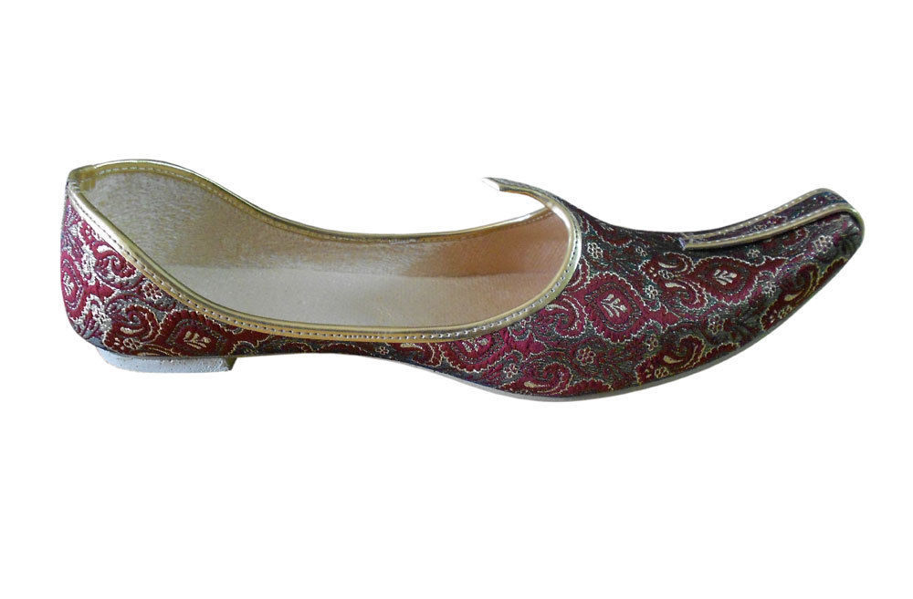Jutti Indian Wedding Men Shoes Groom Mojari Handmade Flip-Flops Flat US 6