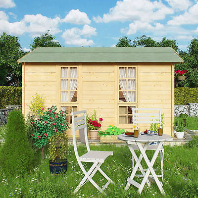 Miller Summerhouse Log Cabin Garden Office Family Outdoor