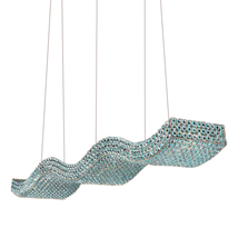 "AM5050: Crystal Atlier Vivarini ""Waves"" Suspension Chandelier (24""-48""L) $1,690+ - $1,690.00"