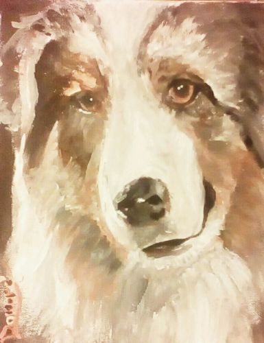 Primary image for ORIGINAL ACEO Print Dog Modern Art-: rdoward fine art