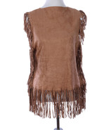 APPAREL / LONG FRINGE / SUEDE FEEL PONCHO / 21 ... - $19.99