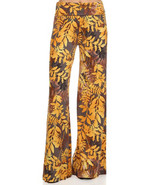 APPAREL / GOLDEN FOLIAGE PRINT / PALAZZO PANTS ... - $19.99