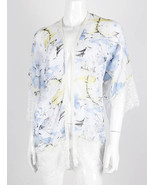 APPAREL / FLORAL PRINT / SHEER COVER UP / WIDE ... - $19.99