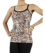 APPAREL / TANK TOP / ANIMAL PRINT / TIGER / SEQ... - $19.99