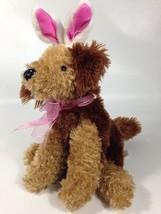 Dan Dee Terrier Puppy Dog Plush Mutt w/ Bunny Ears Soft Stuffed Animal P... - $27.99