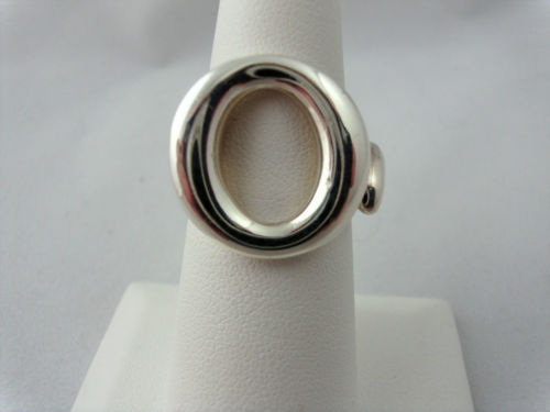 Authentic Tiffany & Co. Peretti Sevillana 'O' Ring Sterling Silver Sz 5.5