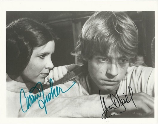 Primary image for CARRIE FISHER MARK HAMILL SIGNED PHOTO 8X10 RP AUTOGRAPHED STAR WARS